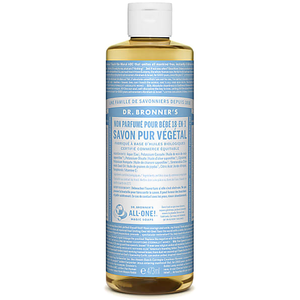 Dr. Bronner's - Savon Liquide de Castille Sans Parfum pour Bebe - 4...
