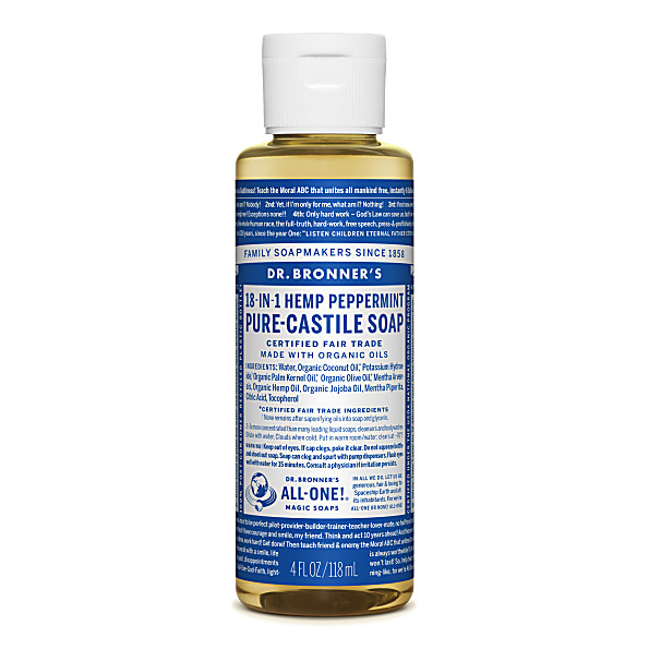 Dr. Bronner's - Savon Liquide de Castille - Menthe poivree - 118ml