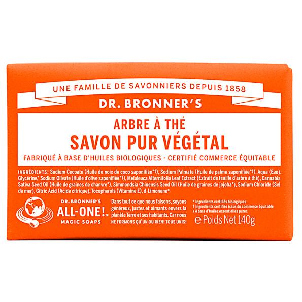 Dr. Bronner's - Savon Solide de Castille - Arbre à The