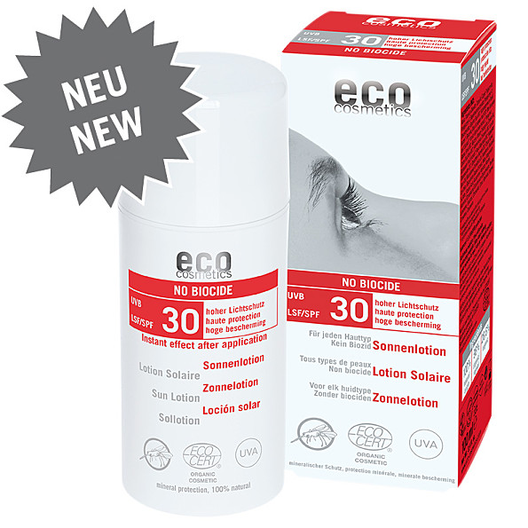 Eco Cosmetics Lotion Solaire Antimoustique Protection Indice 30