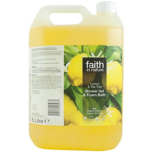 Faith In Nature Gel Douche et Bain au Citron & Arbre De The - 5 litres