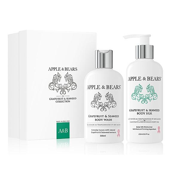 apple & bears coffret cadeau luxueux - pamplemousse & algues