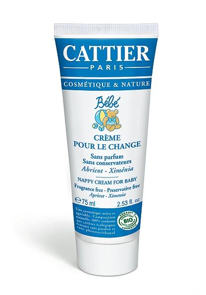 cattier-paris - creme pour le change bebe - 75 ml