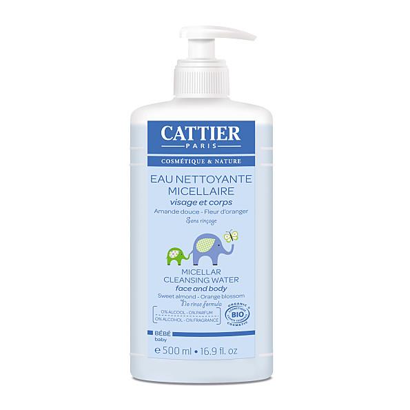 cattier-paris - eau nettoyante micellaire bebe - 500 ml