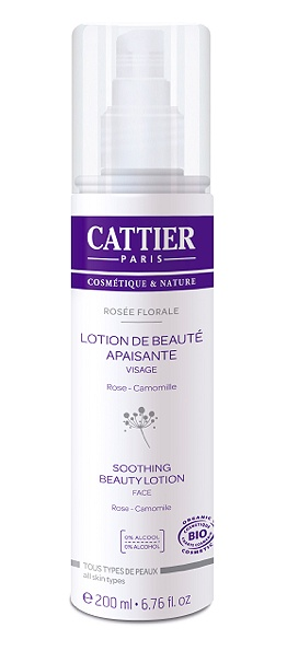cattier-paris - lotion apaisante - rosee florale - 200 ml