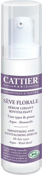 cattier-paris - serum lissant revitalisant - seve florale - 30 ml