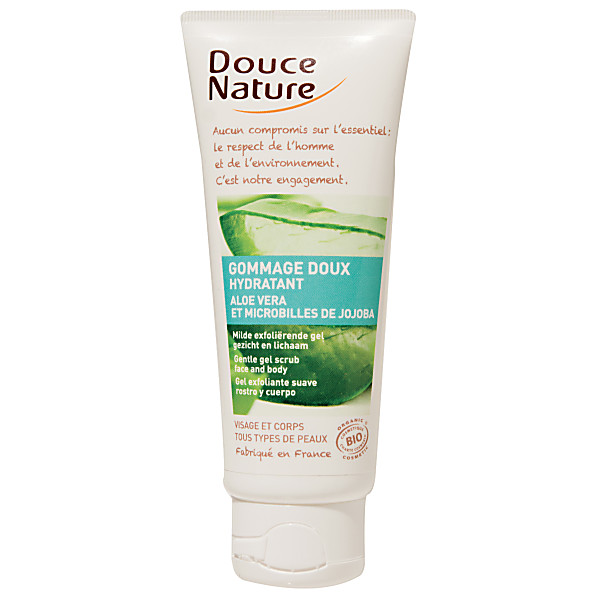 douce nature - gommage doux hydratant - aloe vera - 75ml