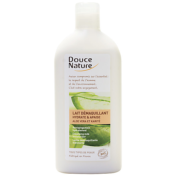 douce nature - lait demaquillant hydratant - aloe vera - 300 ml