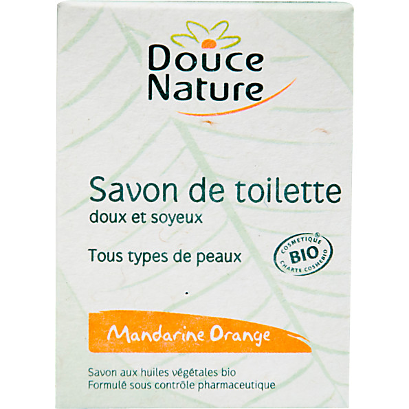 douce nature - savon de toilette - mandarine orange