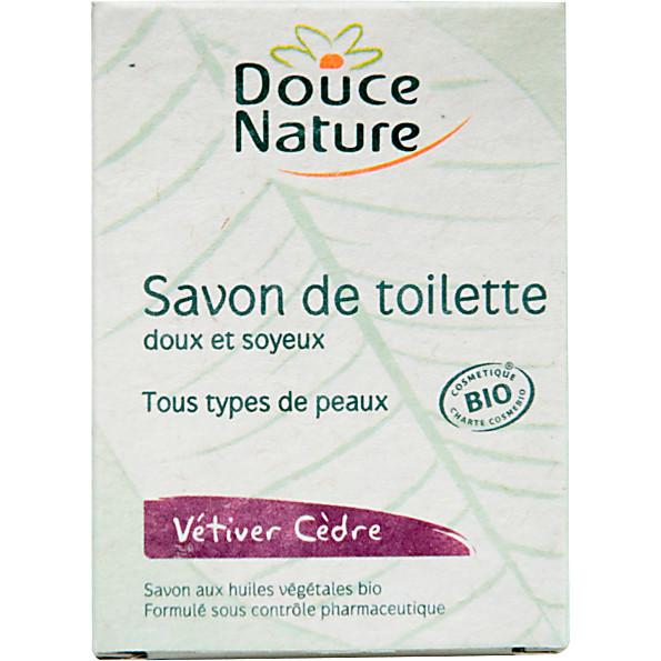 douce nature - savon de toilette - vetiver cedre bio
