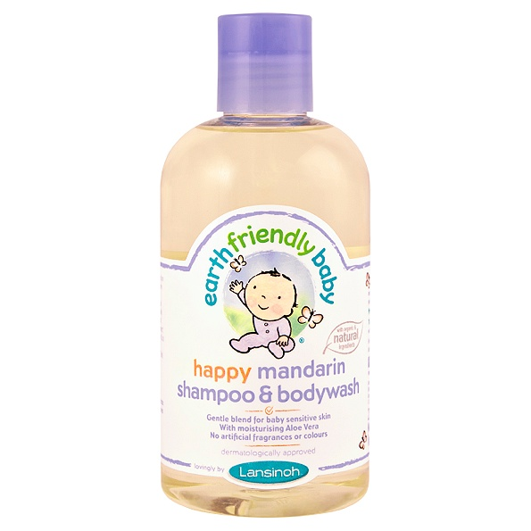 earth friendly baby - shampoing gel douche bebe (mandarin)