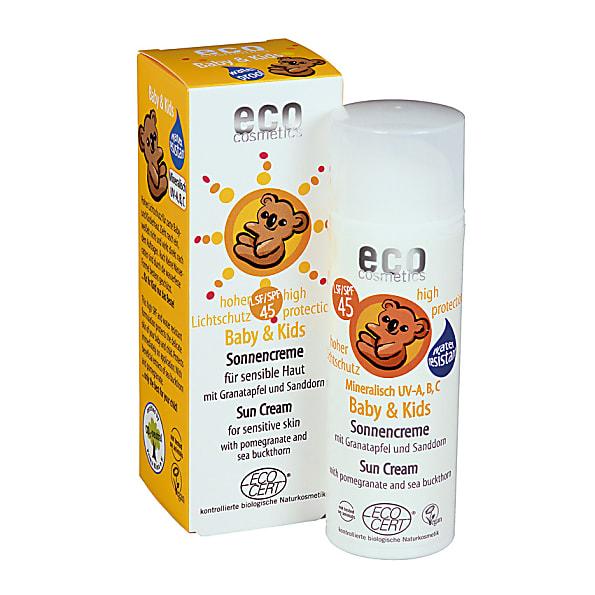 eco cosmetics - creme solaire bebe - indice 45