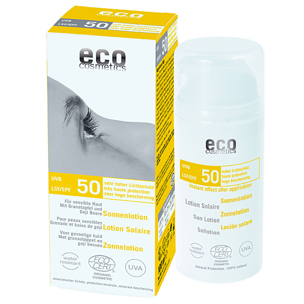 eco cosmetics lotion solaire tres haute protection indice 50