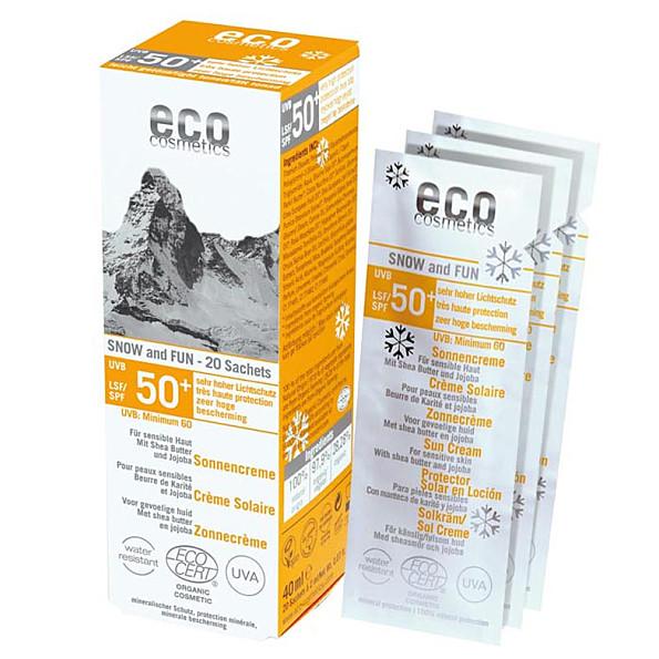 eco cosmetics creme solaire tres haute protection indice 50