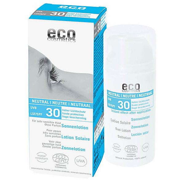 eco cosmetics lotion solaire sans parfum indice 30