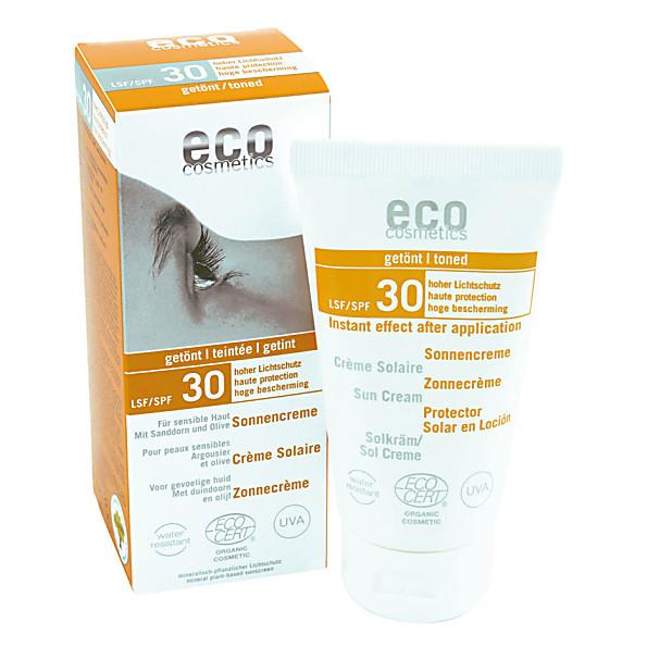 eco cosmetics - creme solaire teintee - indice 30