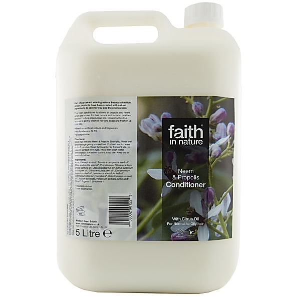 faith in nature apres shampoing neem & propolis 5 l