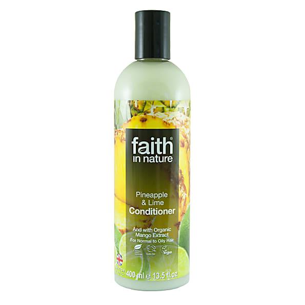 faith in nature apres shampoing ananas & citron vert