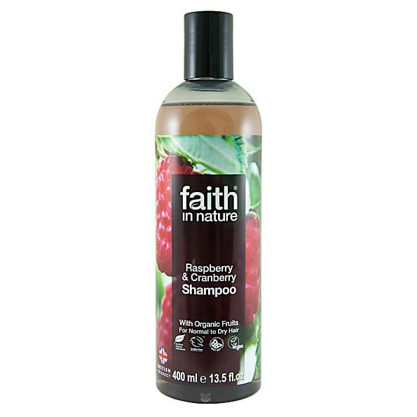 faith in nature shampoing framboise & canneberge