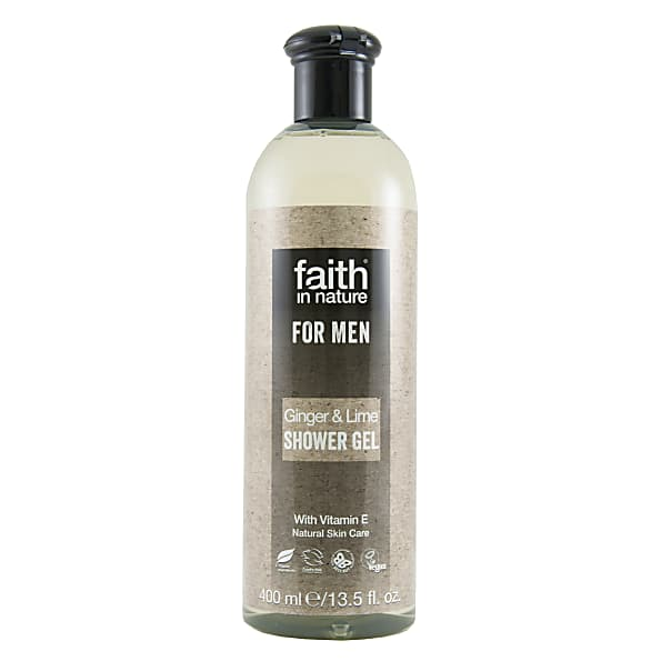 faith in nature pour homme gel douche au gingembre & citron vert