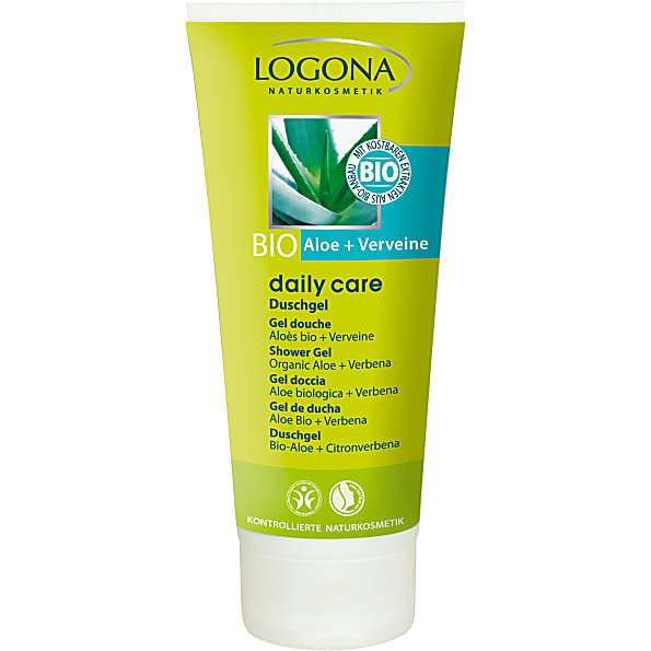 logona - daily care - gel douche bio aloe & verveine