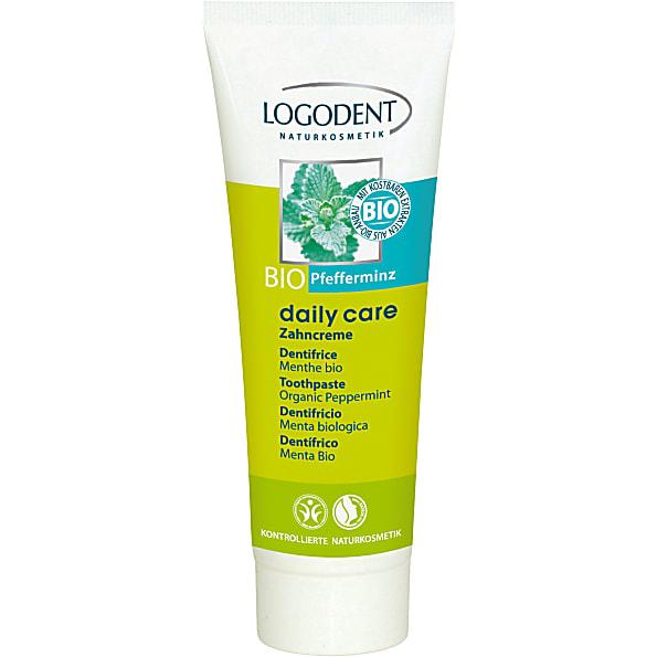 logona - daily care - dentifrice gel menthe poivree