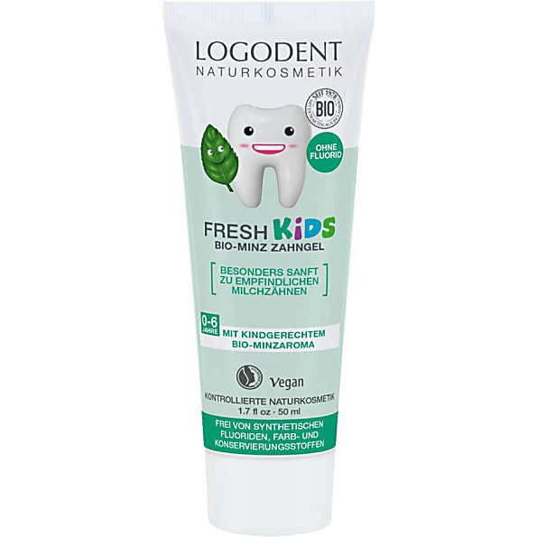 logona - gel dentaire menthe douce kids