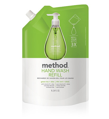 method - recharge savon mains - 1 litre (the vert)