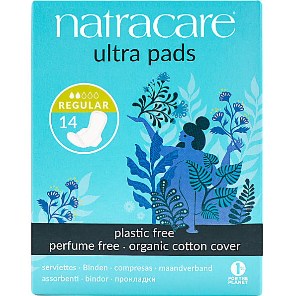 natracare - serviettes hygieniques  ultra (regular with wings (14))