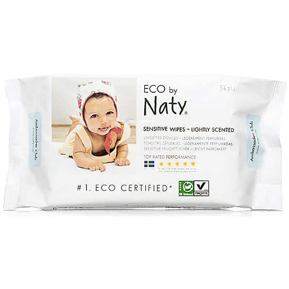naty by nature babycare - eco lingettes douces legerement parfumees