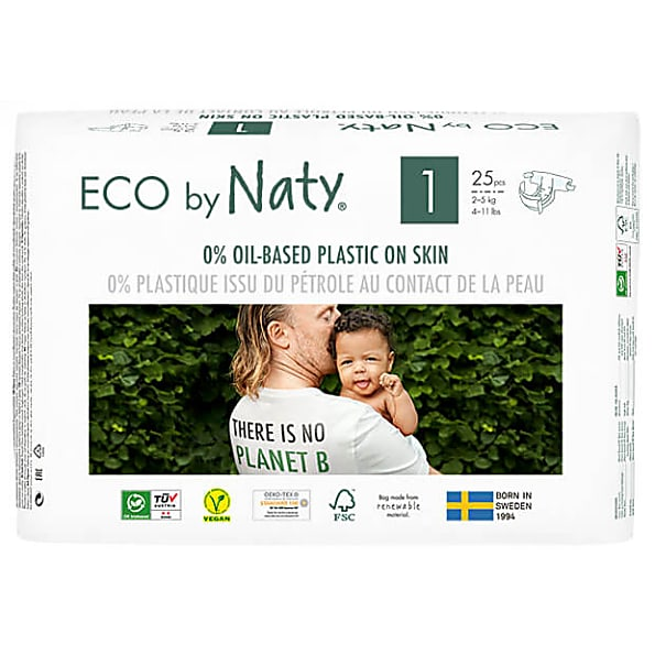 naty by nature babycare - couches : taille 1 nouveau-ne