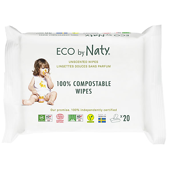 naty by nature babycare - eco lingettes douces format voyage
