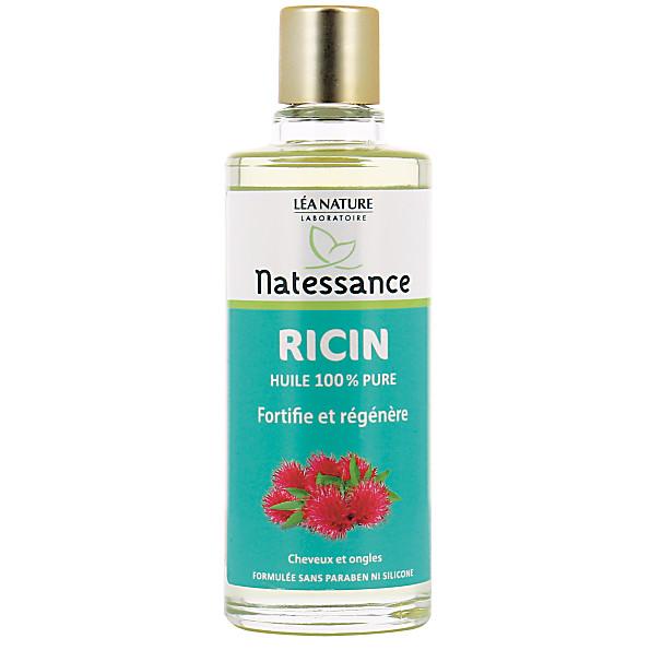 natessance - huile de ricin - cheveux et ongles - 100 ml
