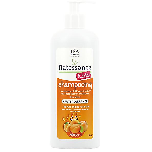 natessance - shampoing haute tolerance kids abricot - sans sulfates...