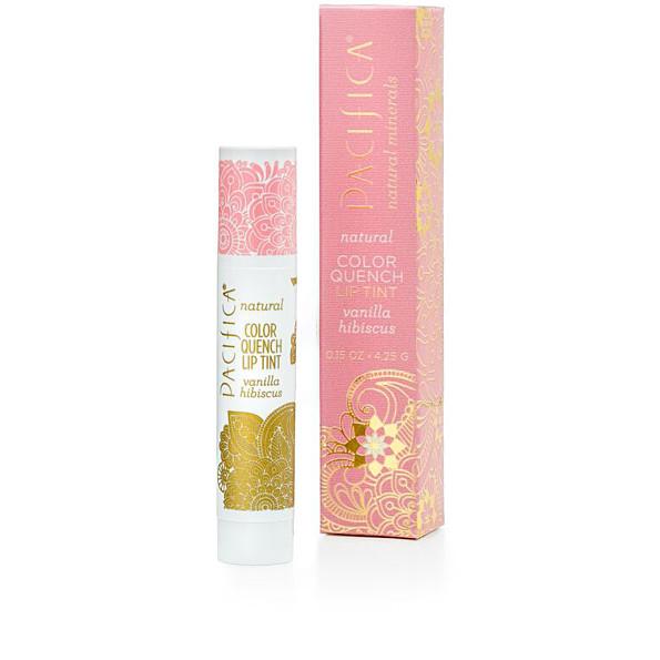 pacifica - baume teinte levres color quench - 4.25g (vanilla hibiscus)