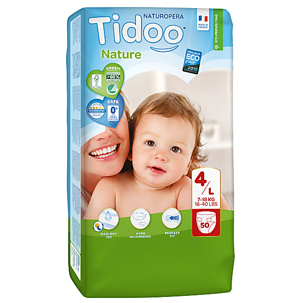 tidoo - jumbo 50 couches ecologiques maxi (t4) - 7/18kg