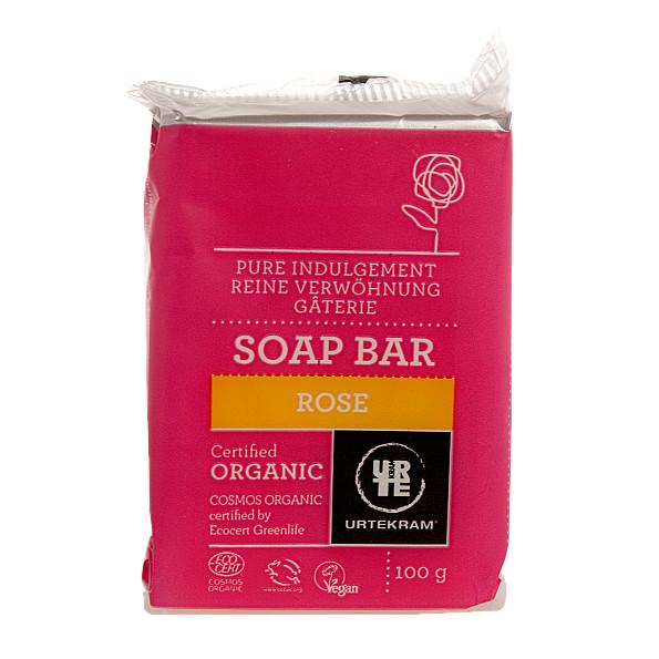 urtekram - savon solide - rose - 100 g