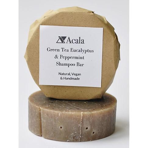 Acala Barre de Shampooing au Thé Vert, Menthe Poivrée et Eucalyptus