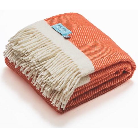 Atlantic Blankets Couverture de Laine - Corail (130cm x 200cm)