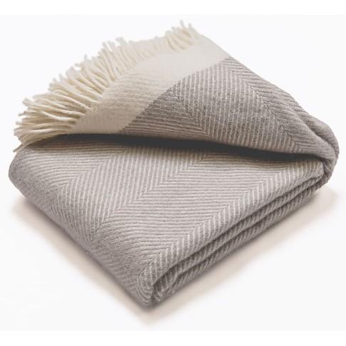 Atlantic Blankets Couverture de Laine - Grise (130 x 200cm)