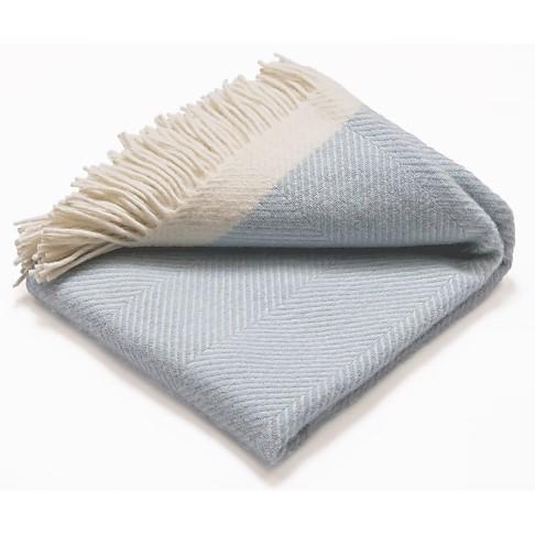 Atlantic Blankets Couverture de Laine - Bleue Claire (130 x 150cm)