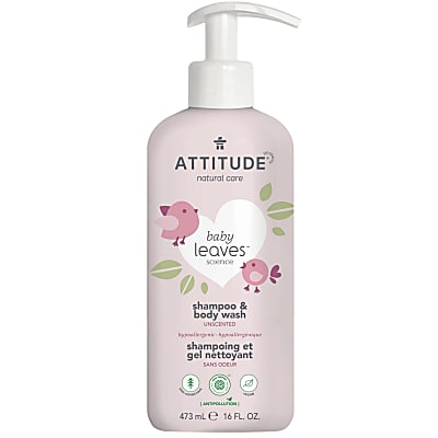 Attitude Baby Leaves Shampooing & Gel Douche 2-en-1 - Sans Parfum