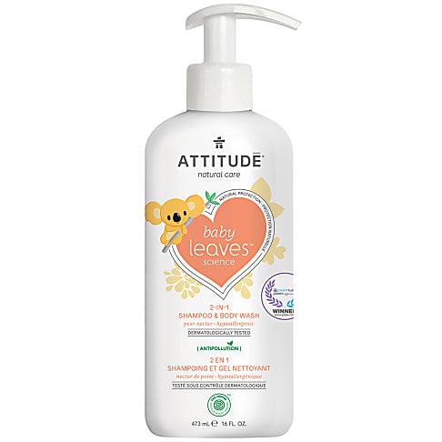 Attitude Baby Leaves Shampooing & Gel Douche 2-en-1 - Nectar de Poire