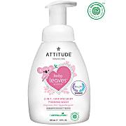 Attitude Baby Leaves 2-en-1 Nettoyant Moussant Cheveux & Corps - Sans Parfum