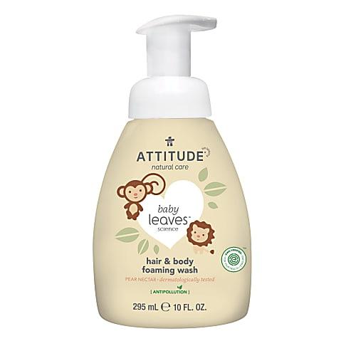 Attitude Baby Leaves 2-en-1 Nettoyant Moussant Cheveux & Corps - Nectar de Poire