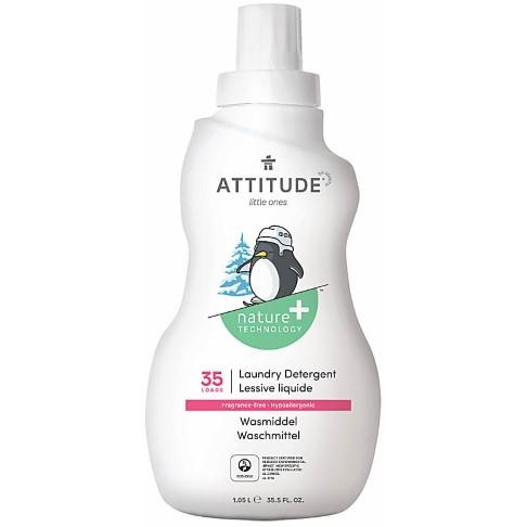 Attitude Little Ones Lessive Liquide pour Bébé - Sans Parfum (35 lavages)