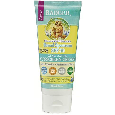 Badger Balm Crème Solaire à l'Oxyde de Zinc Bébés