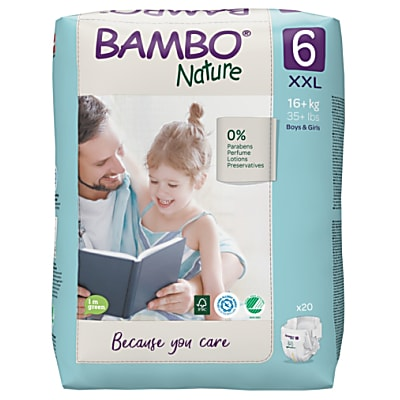 Bambo Nature Couches Jetables - XL Plus - Taille 6 (20 couches)