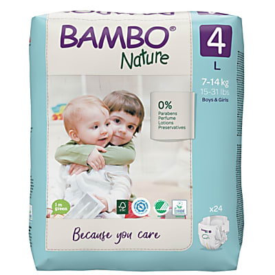 Bambo Nature Couches Jetables - Maxi - Taille 4 - (24 couches)