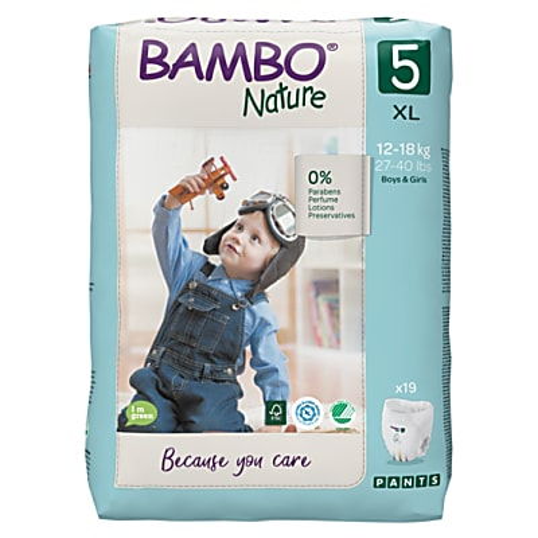 Bambo Nature Culottes d'Apprentissage - Junior- Taille 5 (Paquet de 19)